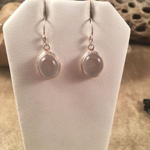 Navajo Sterling Silver and Mother Of Pearl Dangle